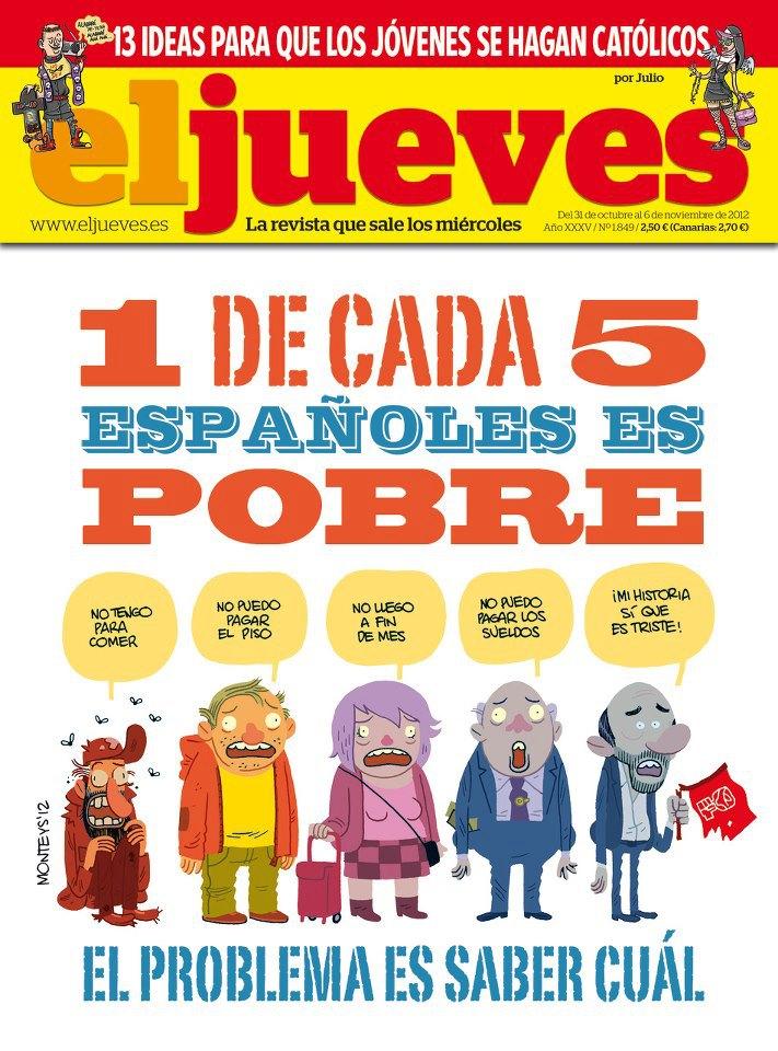 1 de cada 5 españoles es pobre
