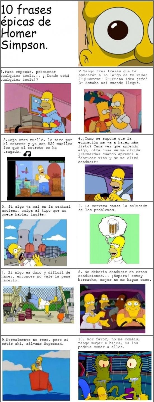 10 frases épicas de Homer Simpson