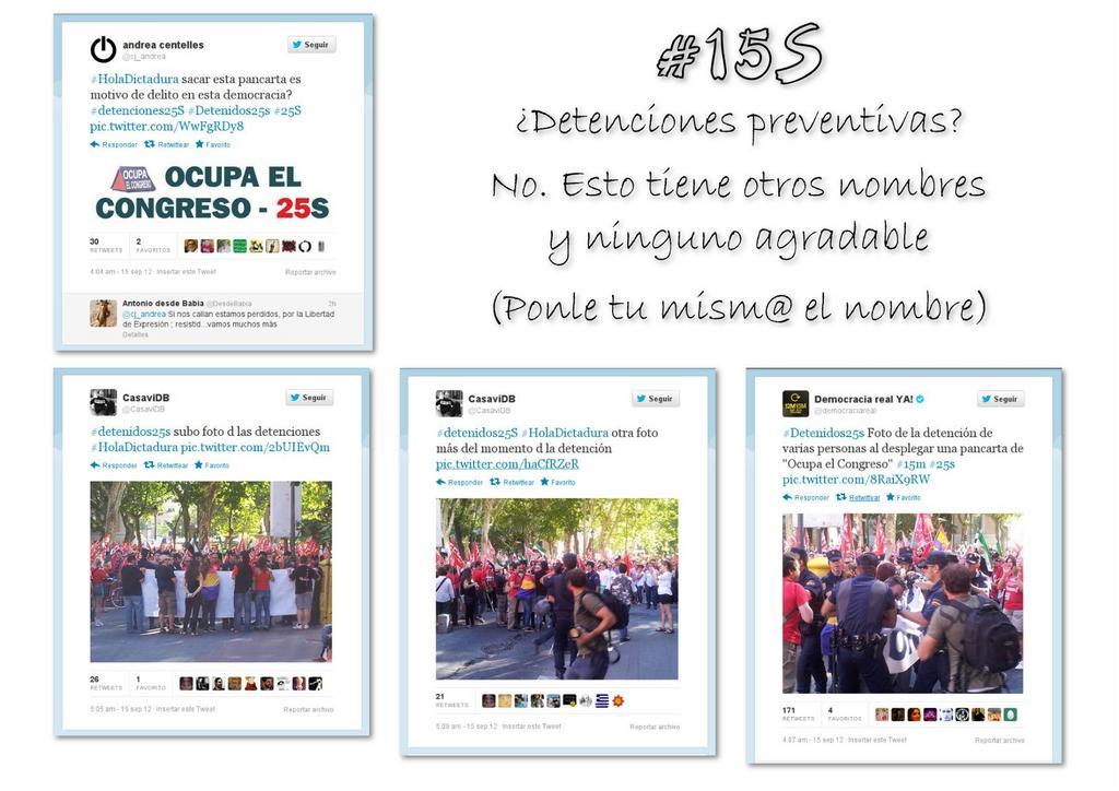 Primeras detenciones preventivas a activistas en España