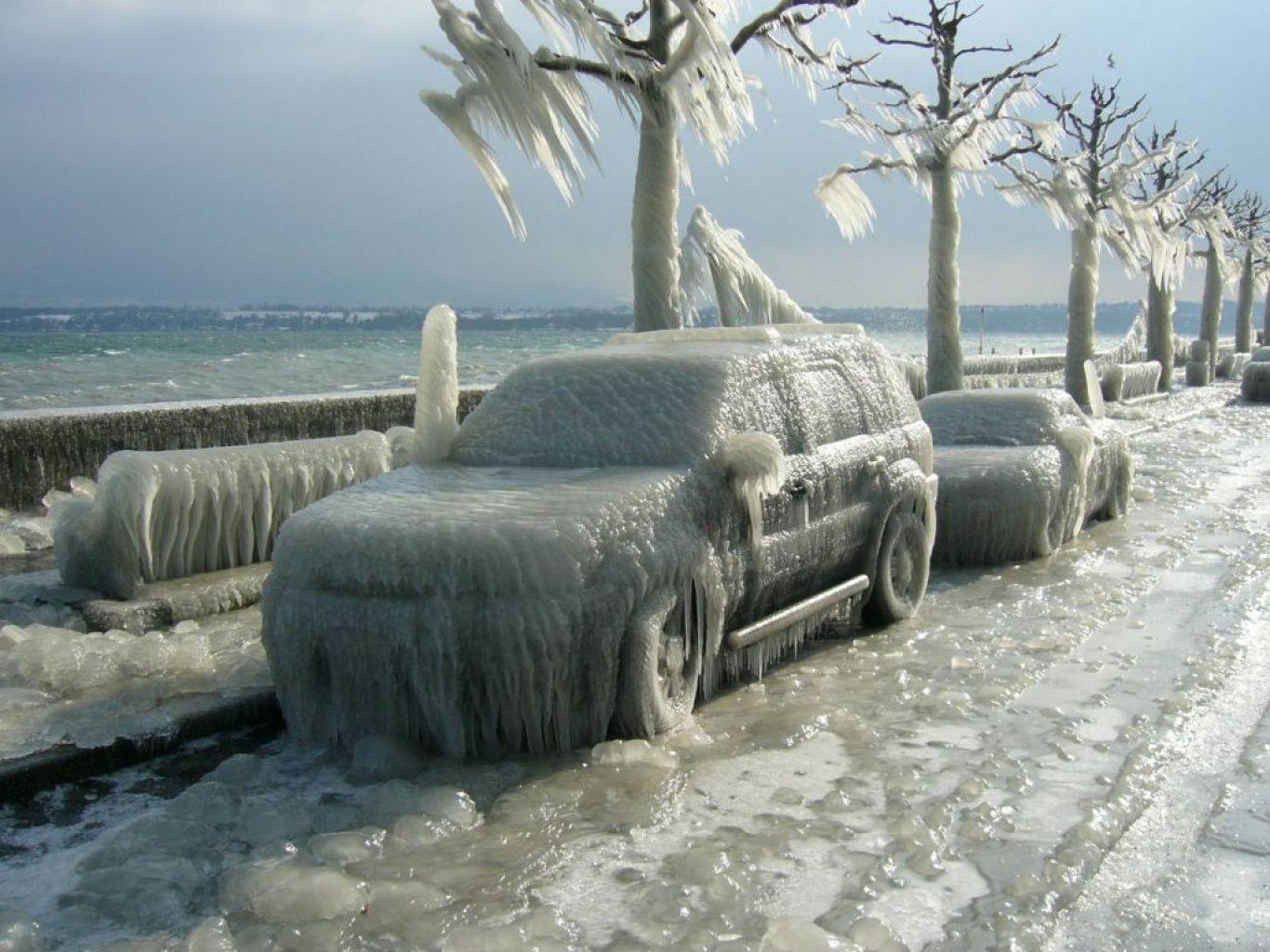 calle coches helados