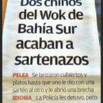 Dos chinos del Wok de Bahía Sur acaban a sartenazos