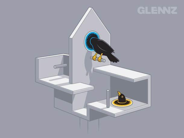 Videojuego Portal - Versión casa para pájaros