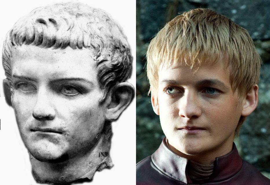 Parecidos razonables - Calígula y Joffrey Baratheon