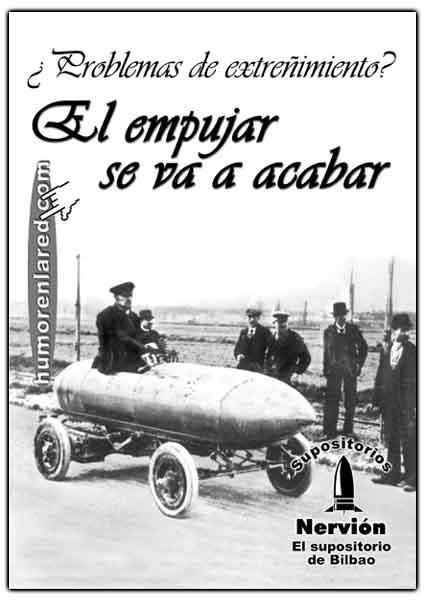 Para problemas de estreñimiento, Nervión, el supositorio de Bilbao