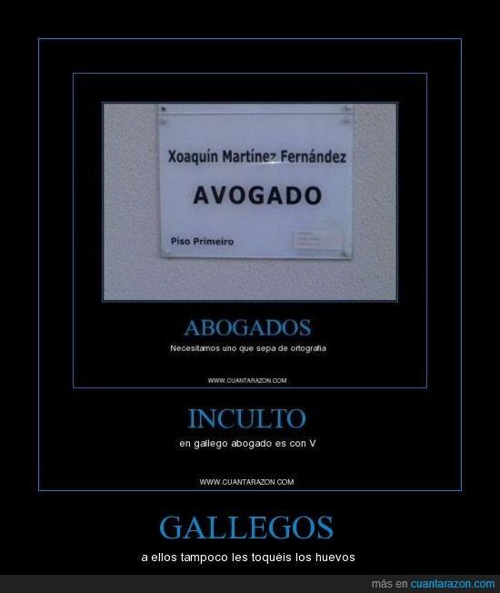 Gallegos - A ellos tampoco les toquéis los huevos