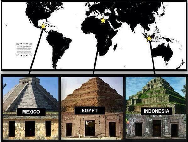 piramides identicas mexico - egipto - indonesia