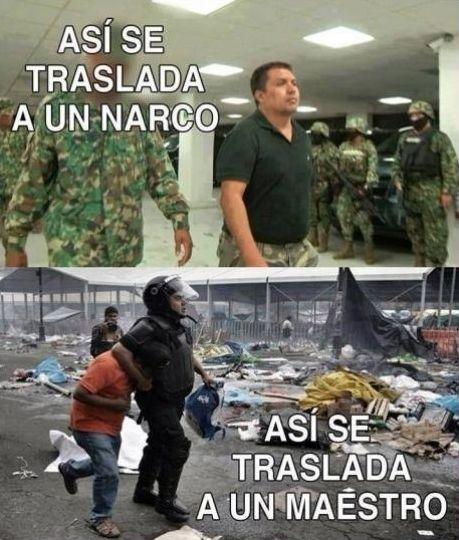 Policía - Así se traslada a un narco, así se traslada a un maestro