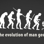 Portada Facebook – The evolution of man geek