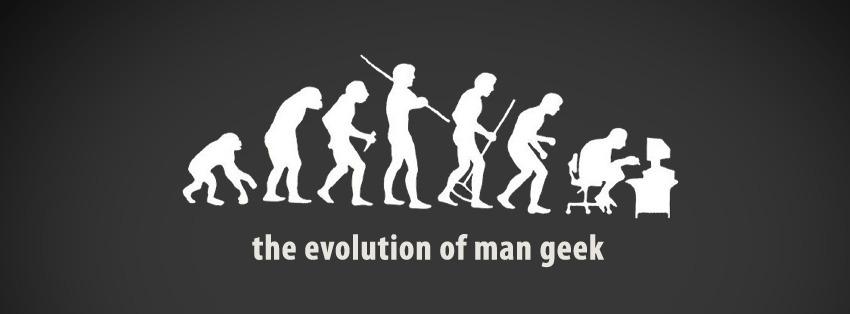 portada facebook - the evolution of man geek