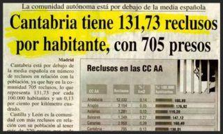 titular cantabria tiene 131,73 reclusos por habitante