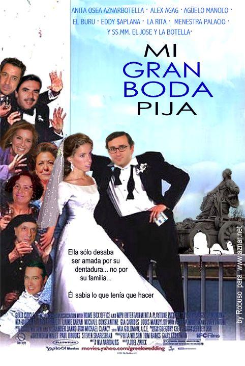 "Carátula ""Mi gran boda pija"", protagonizada por Alejandro Agag y Ana Aznar"