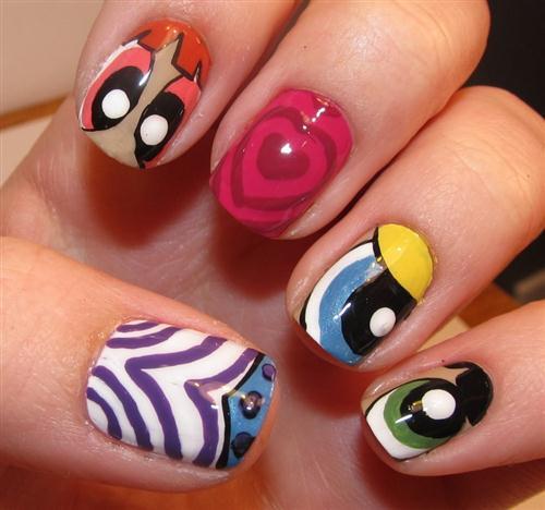 Dibujo para uñas: Las supernenas