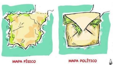 españa - mapa fisico y mapa politico