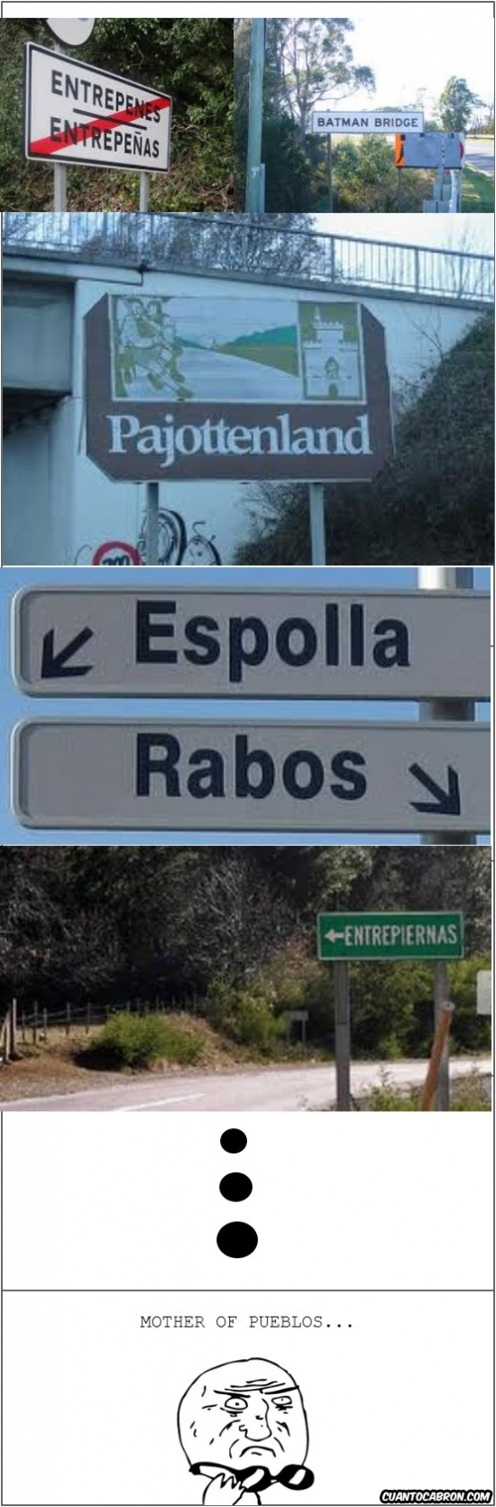 pueblos entrepenes -batman bridge - pajottenland - espolla - rabos - mother of pueblos
