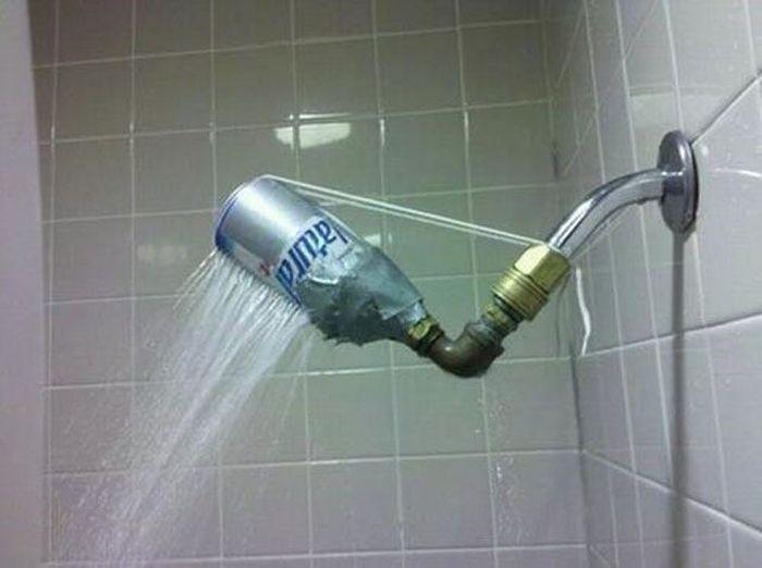 ducha con lata que cutre