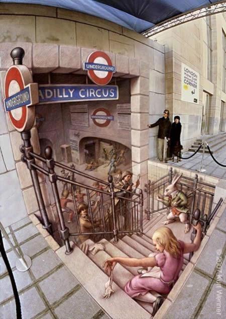 edgar mueller - dibujo entrada de metro