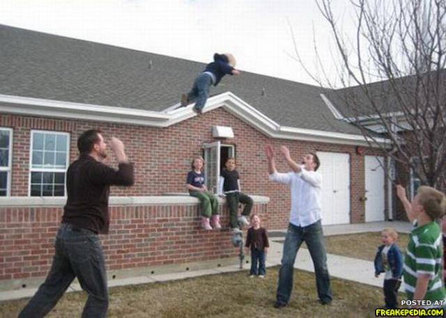 lanzamiento de niño