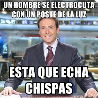 Matías Prats: Un hombre se electrocuta con un poste de la luz