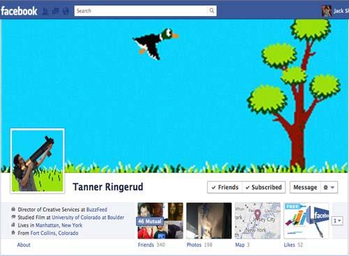 Curiosa portada + foto de perfil de Facebook - Cazando pájaros