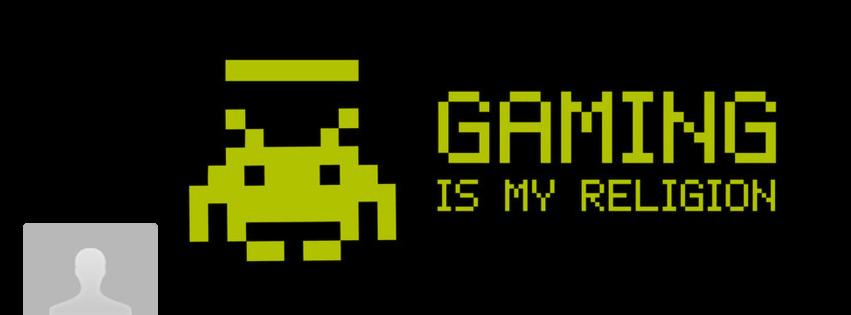 portada facebook - gaming is my religion