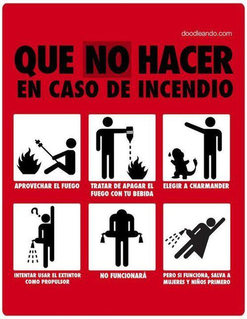 que no hacer en caso de incendio