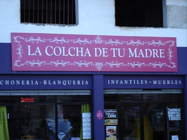 tienda cartel la colcha de tu madre