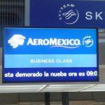 Aeromexico. Clases de ortografía también demoradas por lo que se ve