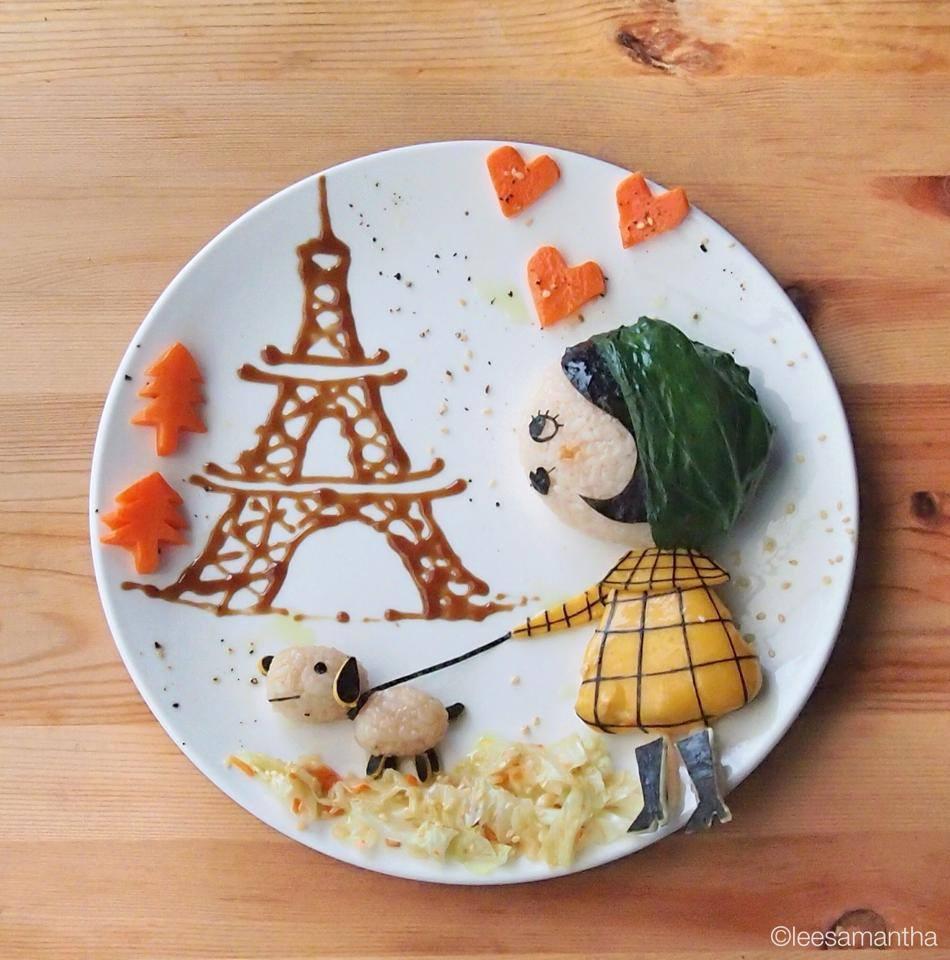 arte con comida - plato amelie