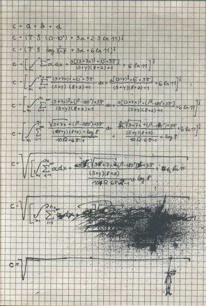 Desarrollando fórmula matemática fail