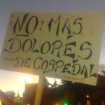 """Pancarta """"No más Dolores… de Cospedal"""""""