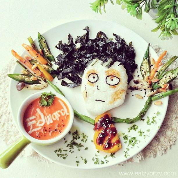 arte con comida - eduardo manostijeras