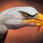 Body painting – Águila dibujada en mano
