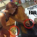 Sacando bandeja del horno fail