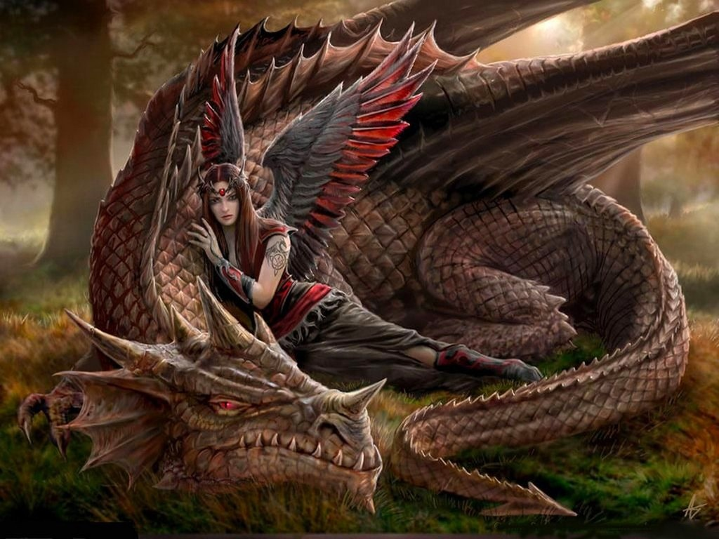 Dragón y ángel