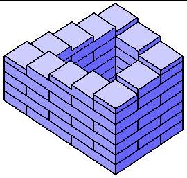 Ilusión óptica: escalera imposible