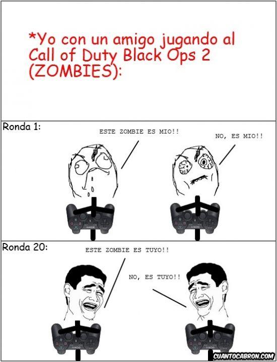 Un día cualquiera, jugando al Call of Duty Black Ops 2...