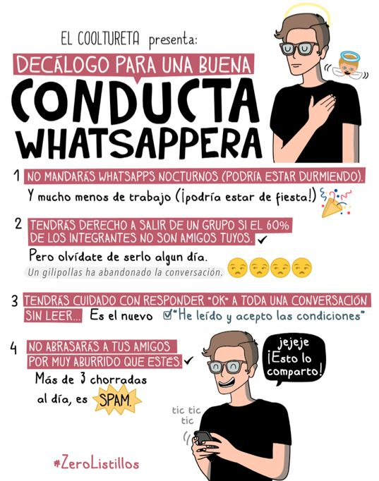 Decalogo para una buena conducta whatsappera