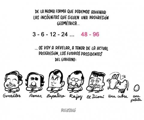 Los futuros presidentes del gobierno español según Aleix Saló