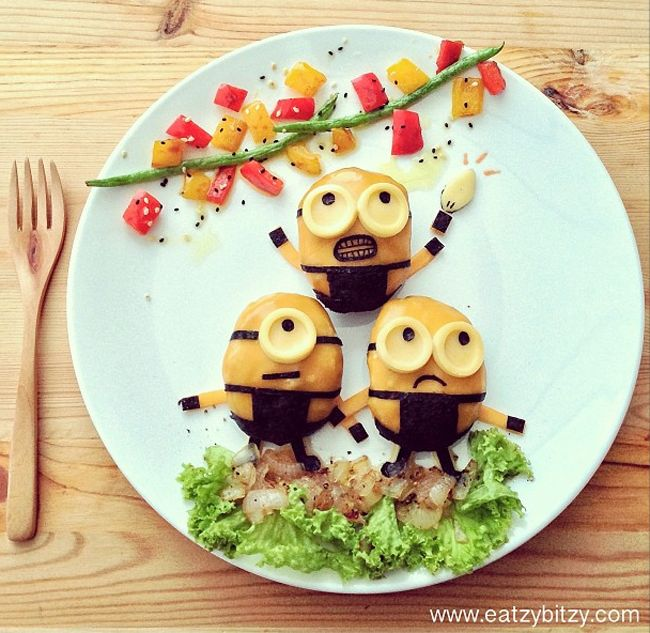 arte con comida minions gru mi villano favorito