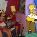 Cosplay Los Simpson muy logrado