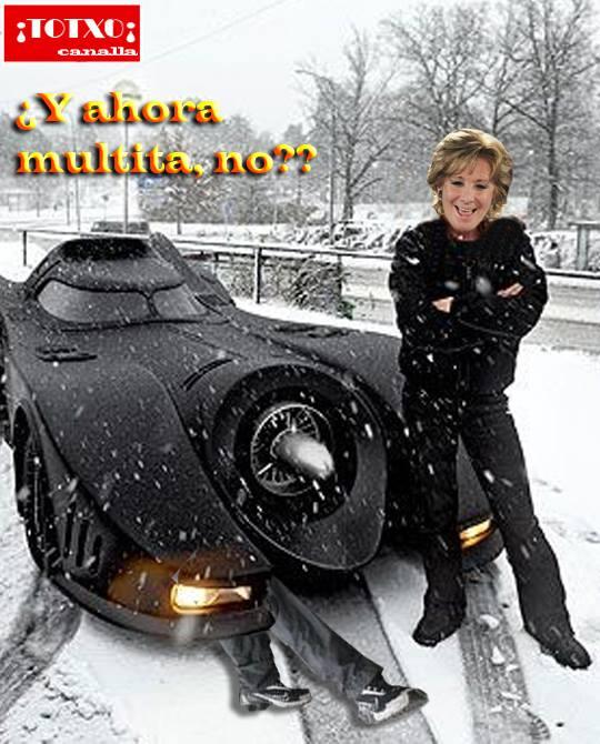 Esperanza Aguirre: Y ahora multita, ¿no?