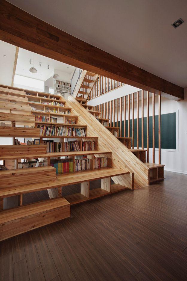 estanteria escalera banco