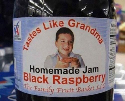 etiqueta homemade jam tastes like grandma