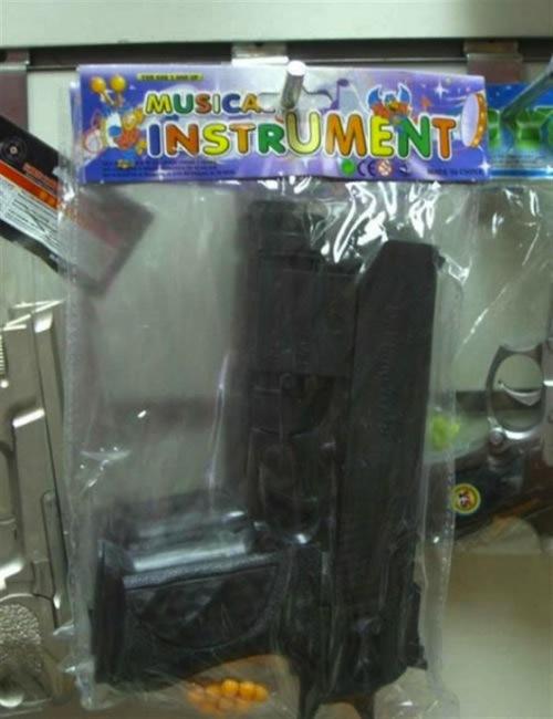 juguetes musical instrument pistola