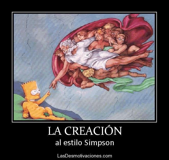 La Creación (Simpson style)