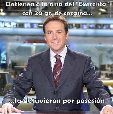 Matías Prats: Detienen a la niña del Exorcista con 20 gr de Cocaína