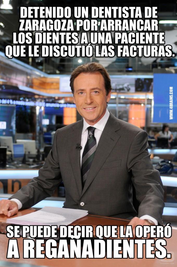 Matías Prats: Detenido un dentista de zaragoza por arrancar los dientes a una paciente que le discutió las facturas