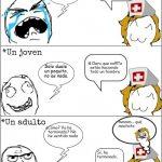 Reacciones en el hospital después de ponerse una vacuna
