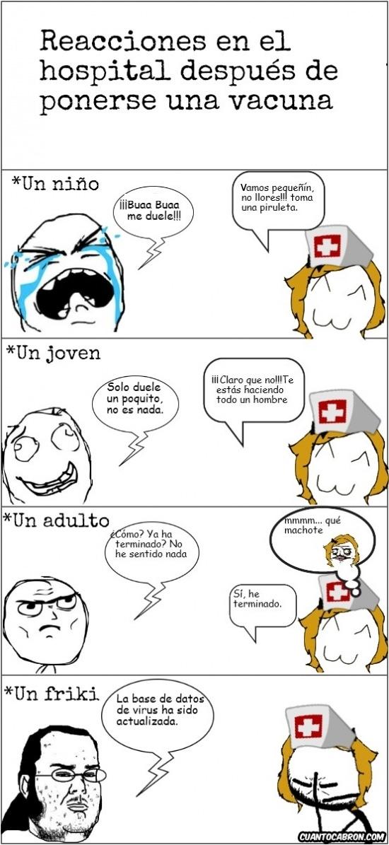 memes reacciones en el hospital despues de ponerse una vacuna
