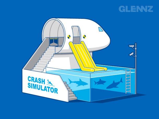 simulador de accidente aereo glennz